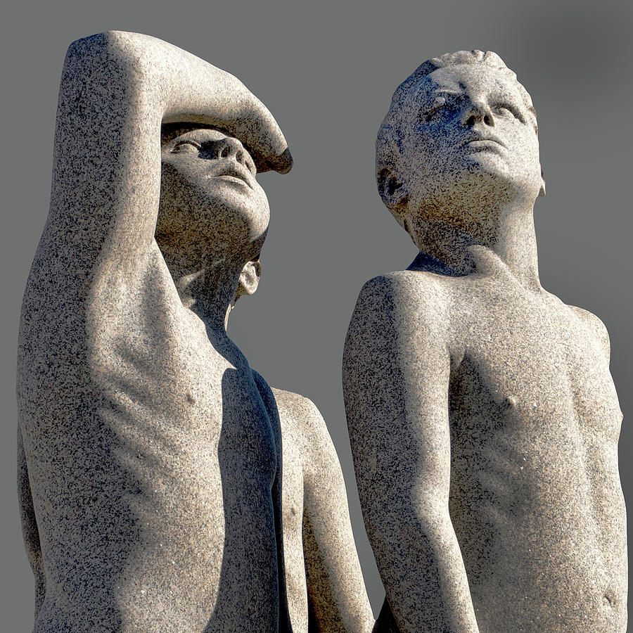 Group of Male Vigeland Sculptures Looking Skyward by Phil Cardamone
