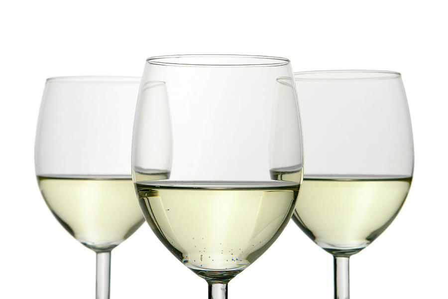 Group Of Three Wine Glasses Isolated On Photograph by Domin domin