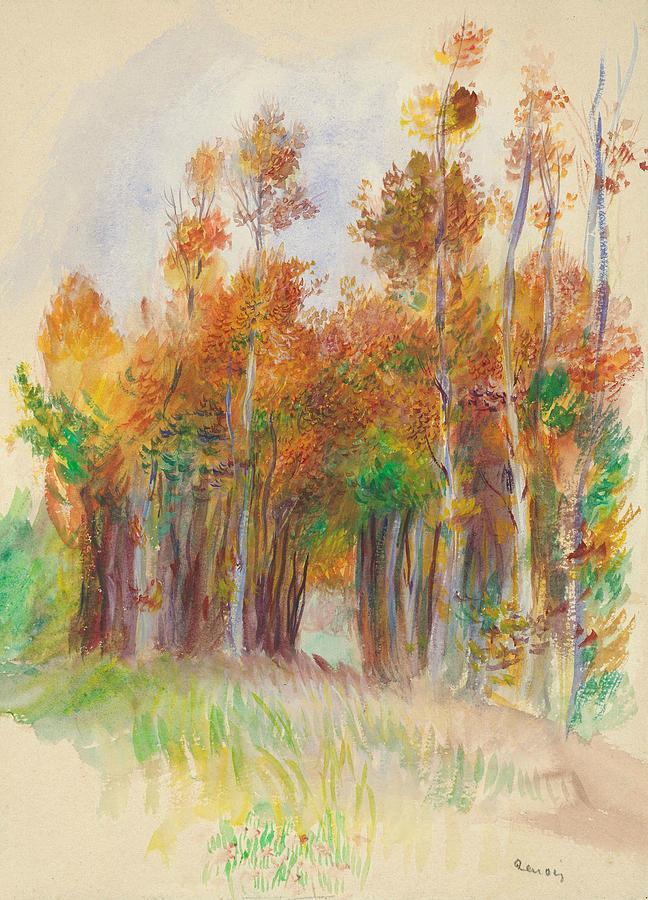 Grove of Trees by Auguste Renoir