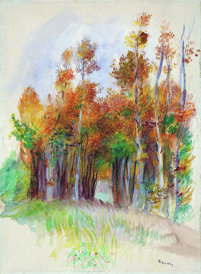 Grove Of Trees Painting - Grove Of Trees - Digital Remastered Edition by Pierre-Auguste Renoir
