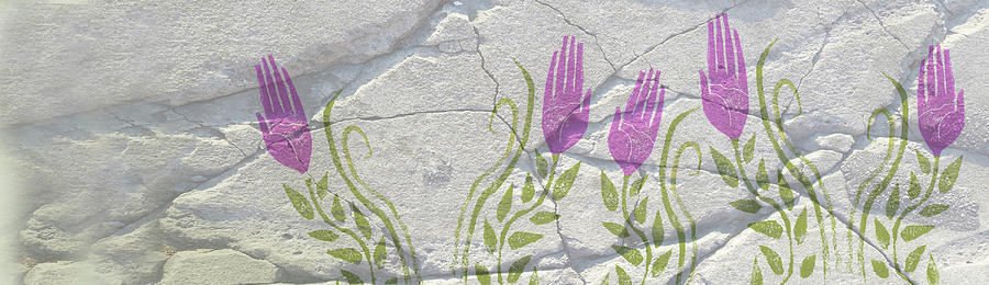 Linked In Photograph - Grow Good Hands On Wall by Margaret Wilson