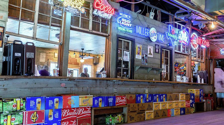 Gruene Hall Bar #1 Photograph