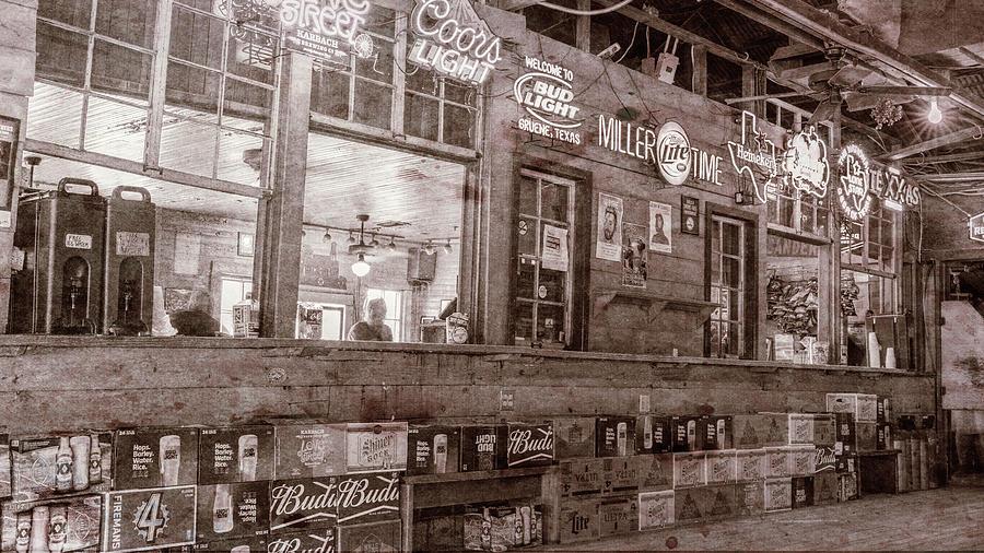 Gruene Photograph - Gruene Hall Bar #3 by Stephen Stookey