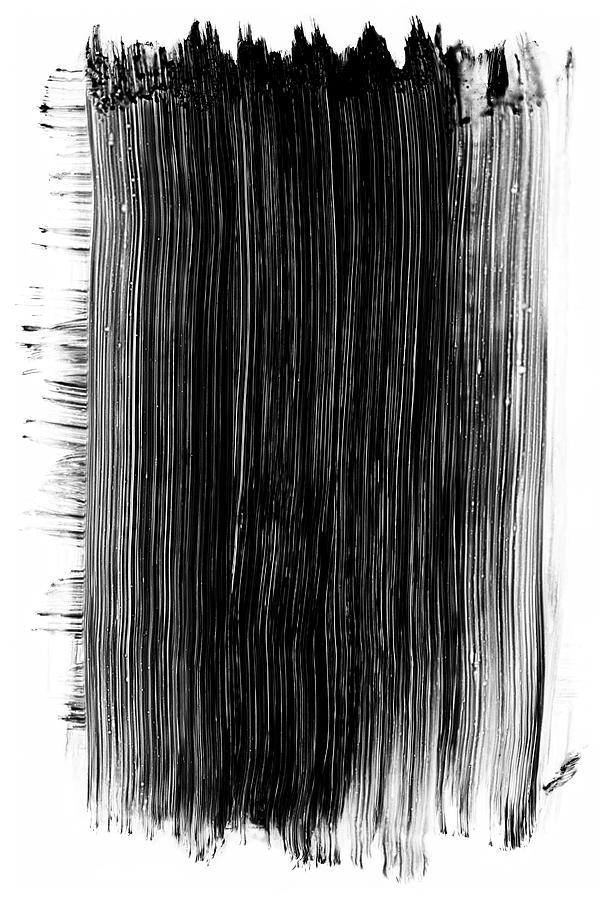Grunge Black Paint Brush Stroke Photograph by 77studio