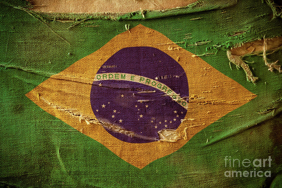 Grunge Flag Of Brazil Photograph by Wundervisuals