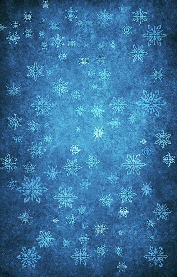 Grunge Winter Background Digital Art by Mammuth
