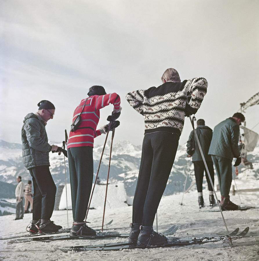 Gstaad Skiers Photograph by Slim Aarons