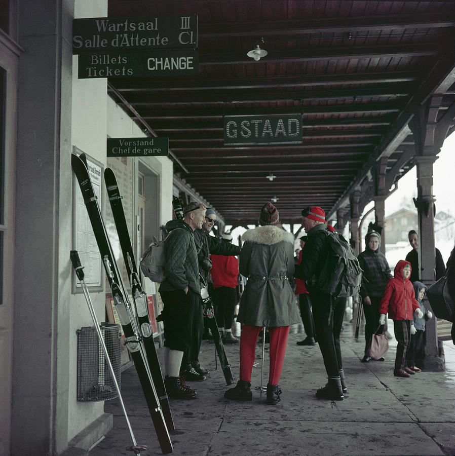 Gstaad Station Photograph by Slim Aarons
