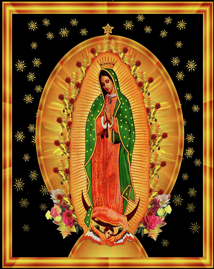 Religious Painting - Guadalupe8 by Marcus Jules