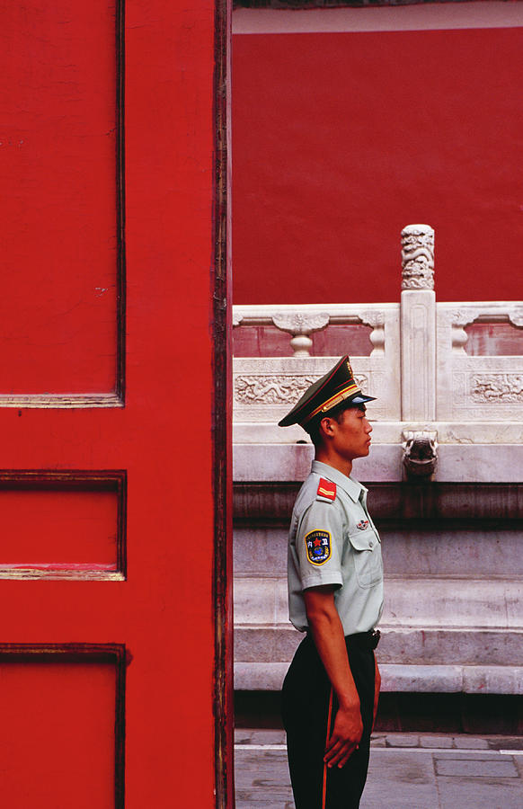 Guard On Duty In The Forbidden City Photograph by Richard Ianson