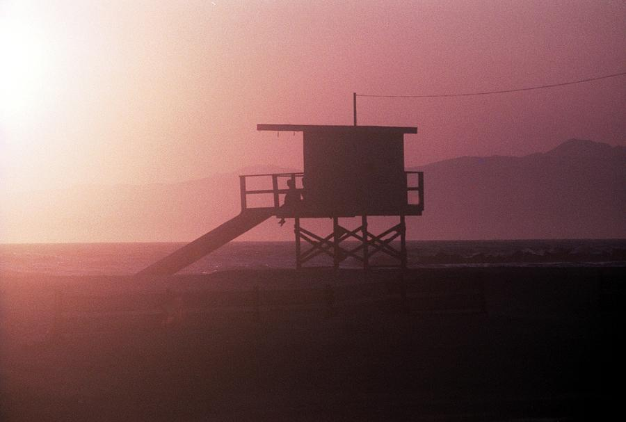 Guard Shack, Venice Beach, California, 1990s by James Oppenheim
