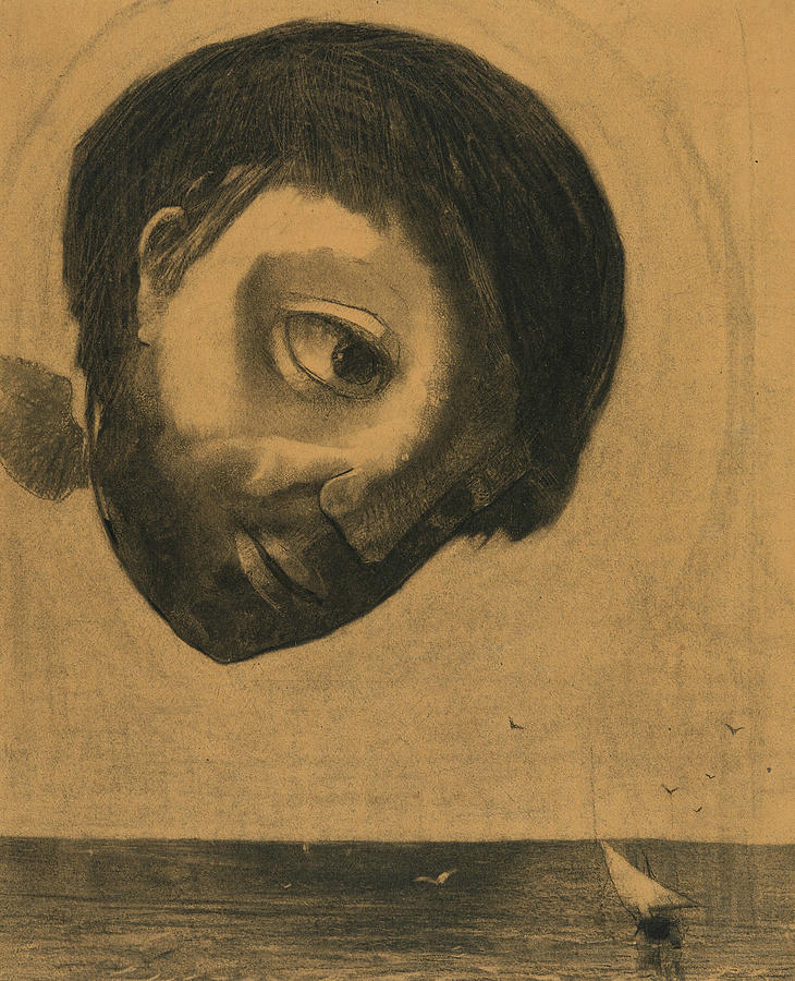 Guardian Spirit of the Waters by Odilon Redon