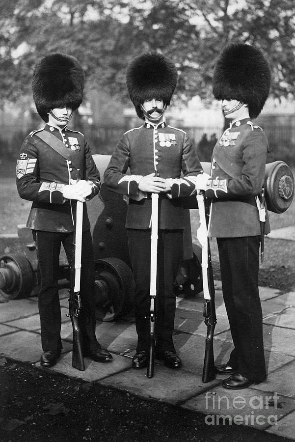 Guards With Rifles In London Photograph by Bettmann