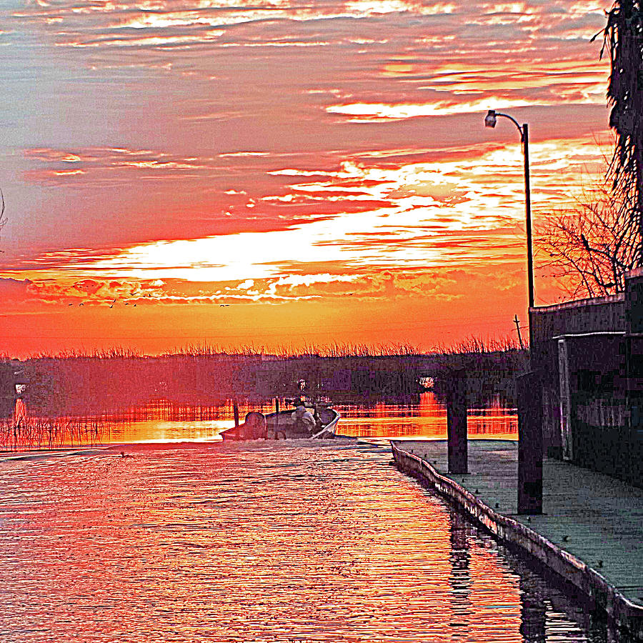 Guest Dock Sunrise by Joseph Coulombe
