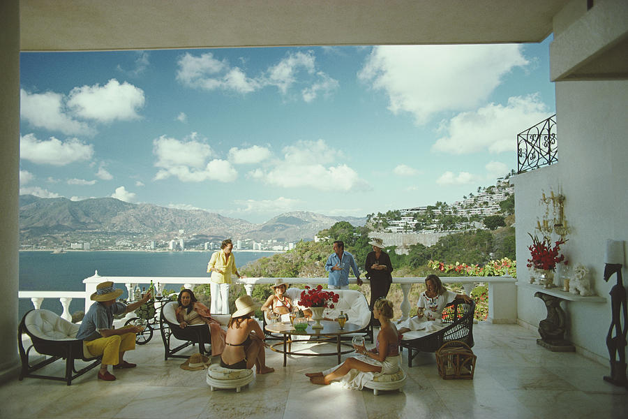 Guests At Villa Nirvana Photograph by Slim Aarons