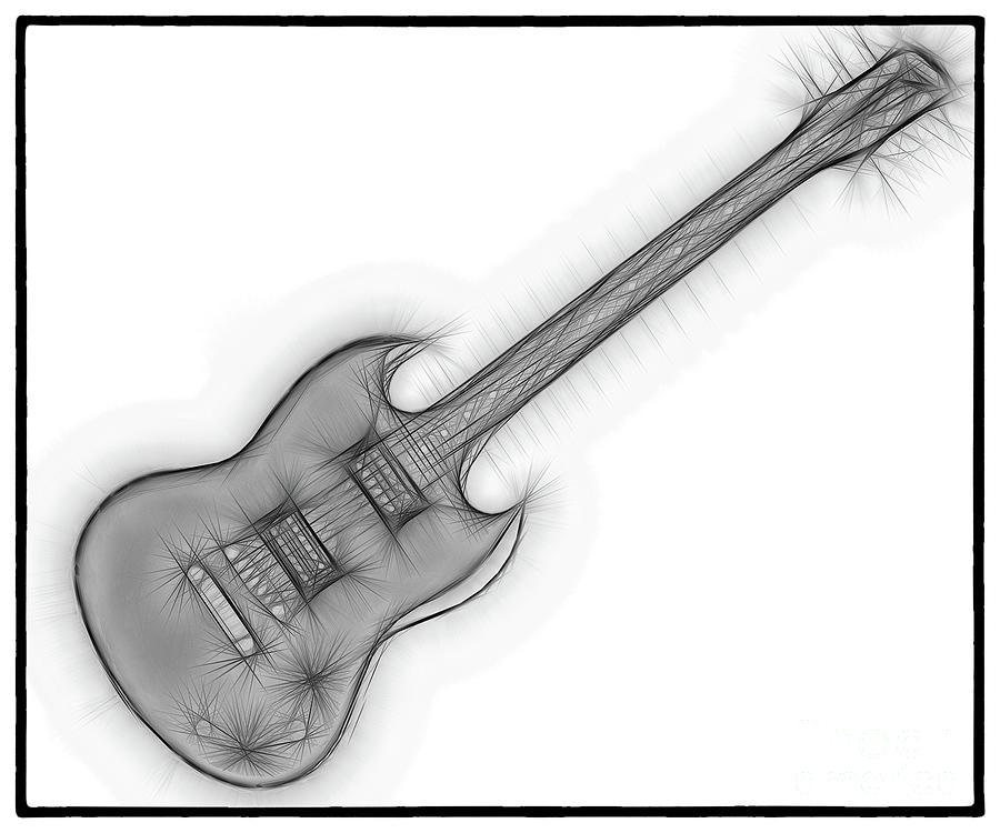 Guitar Fractal 23 Digital Art