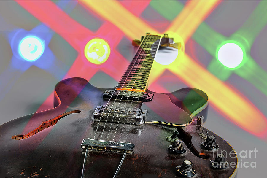 Guitar Image By Gibson Canvas Print 1744.25 by M K Miller