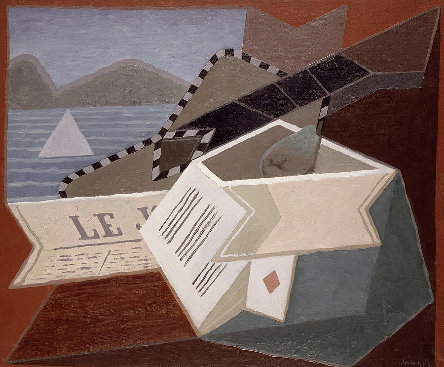 Juan Gris Painting - Guitar In Front Of The Sea, 1925 by Juan Gris