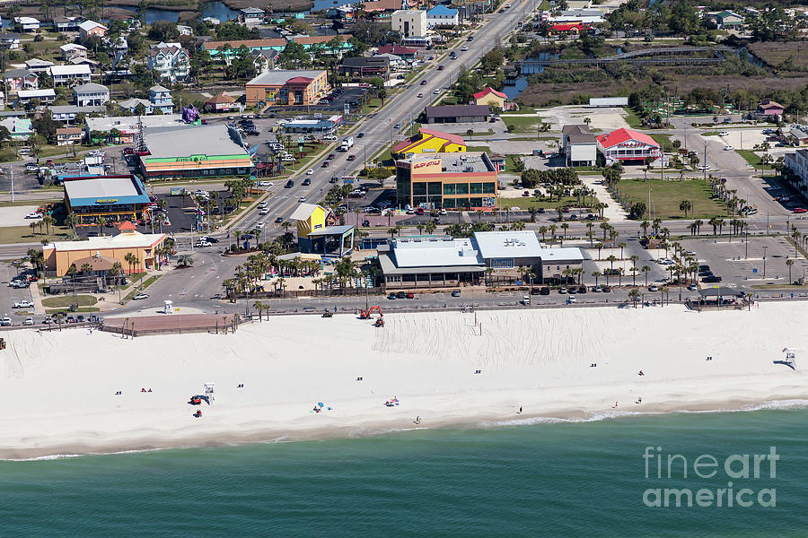 Gulf Shores Beach 7139 by Gulf Coast Aerials -