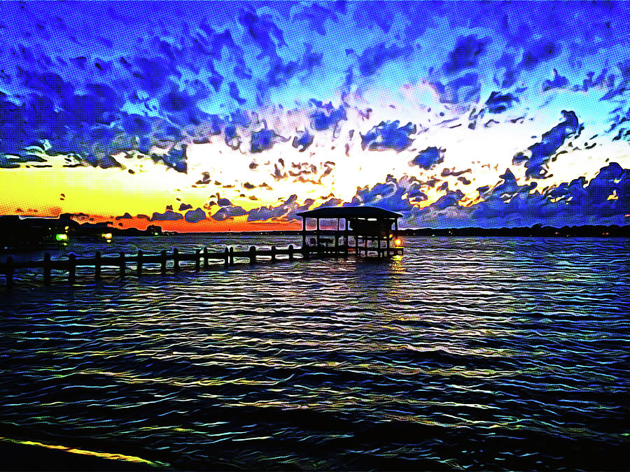Gulf Shores Photograph - Gulf Shores Sunset by Chip Evans