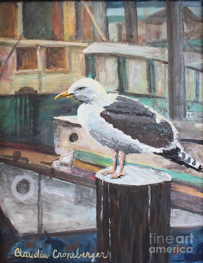 Seagull Painting - Gull by Claudia Croneberger