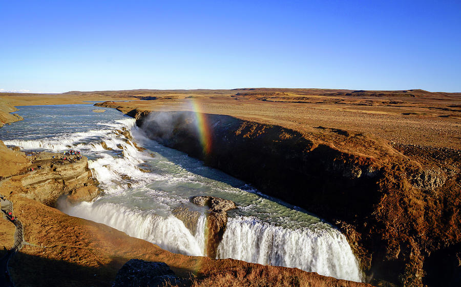 Iceland Photograph - Gullfoss in Autumn by Framing Places