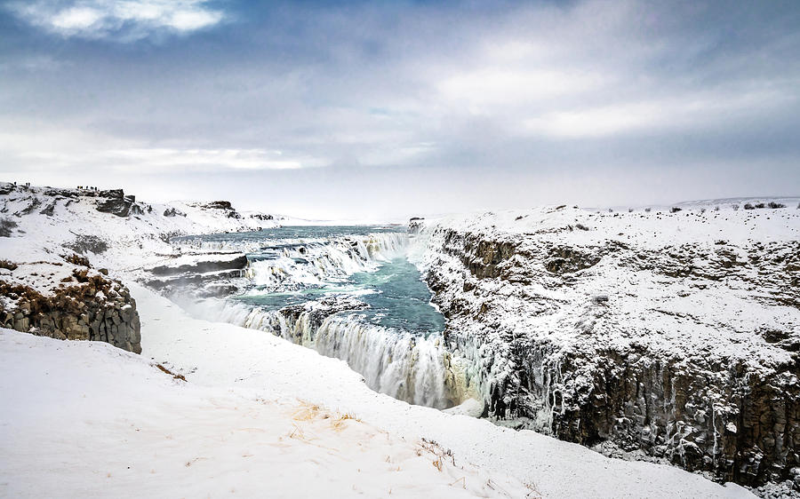 Iceland Photograph - Gullfoss on Ice by Framing Places