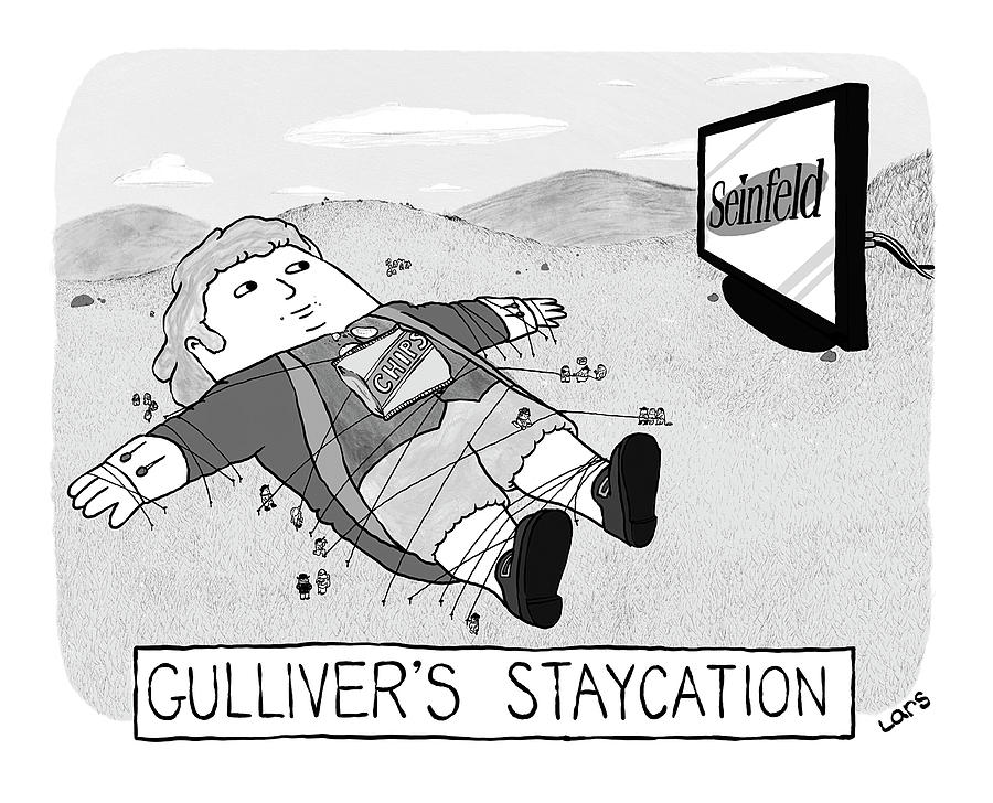 Gullivers Staycation Drawing by Lars Kenseth