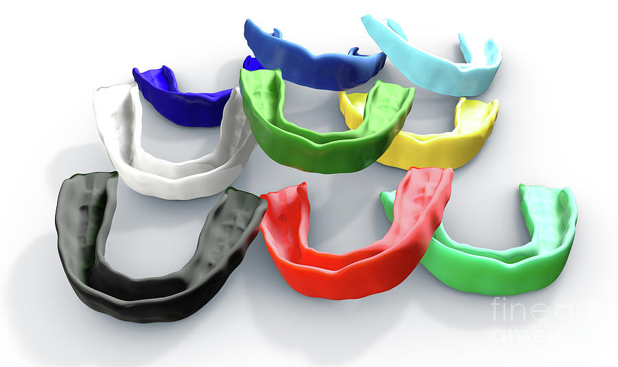 Mouthguard Digital Art - Gum Guard Colorful Collection by Allan Swart