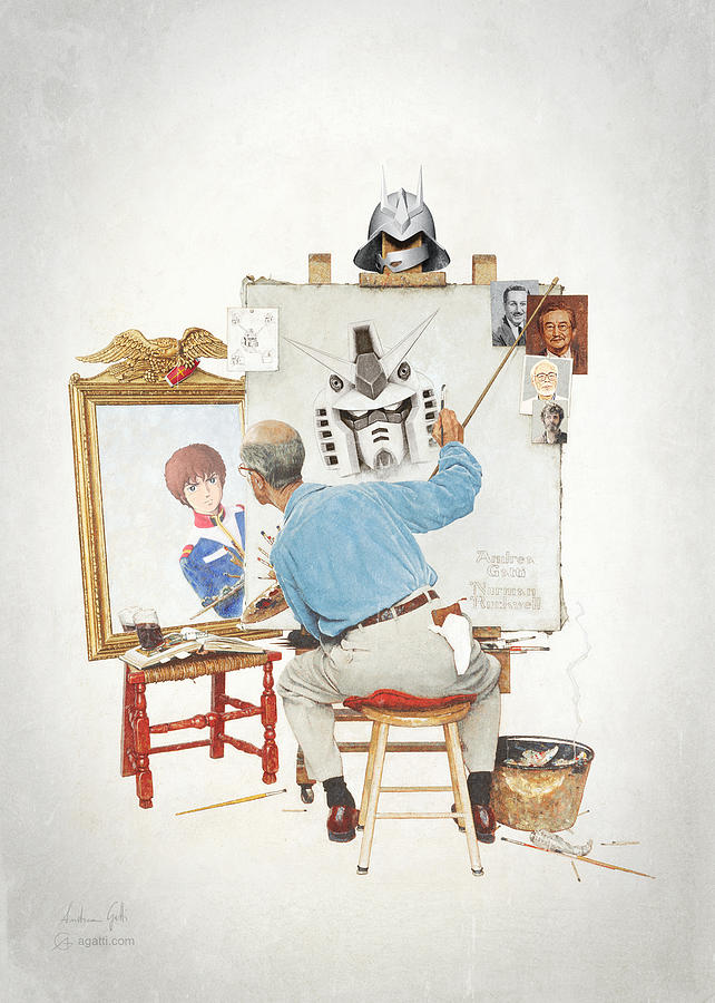 Gundam Triple Self Portrait by Andrea Gatti