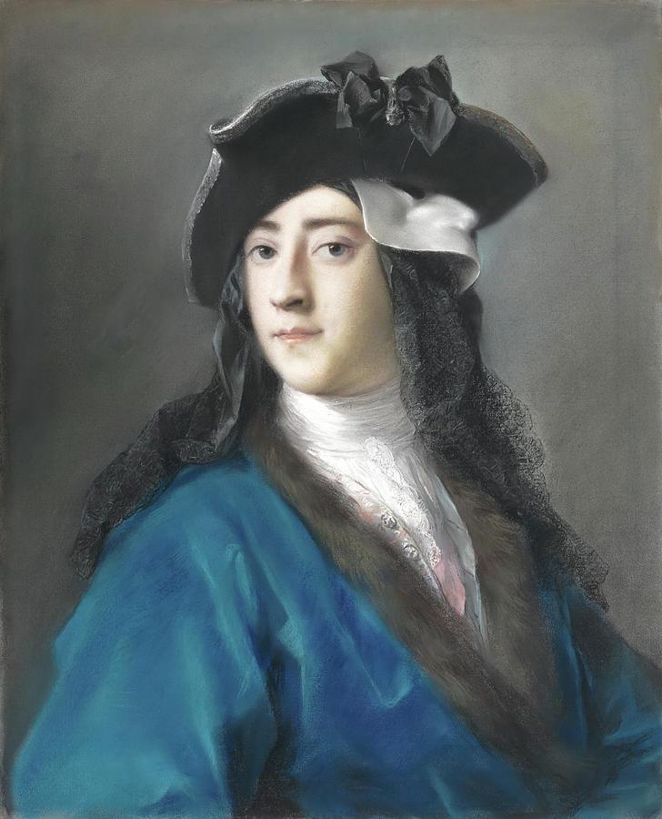 Gustavus Hamilton -1710-1746-, Second Viscount Boyne, in Masquerade Costume. by rosalba carriera