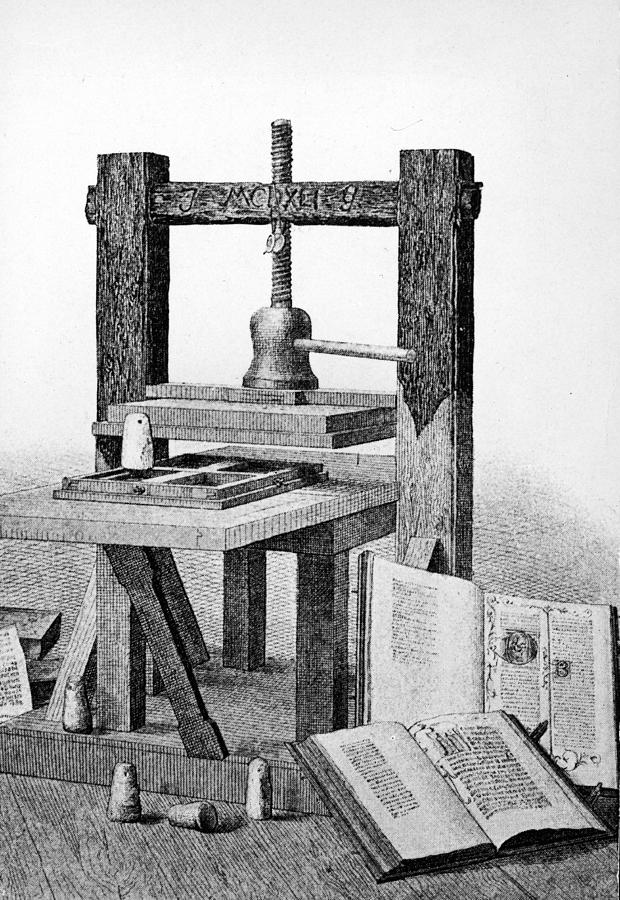 Gutenberg Printing Press Photograph by Authenticated News