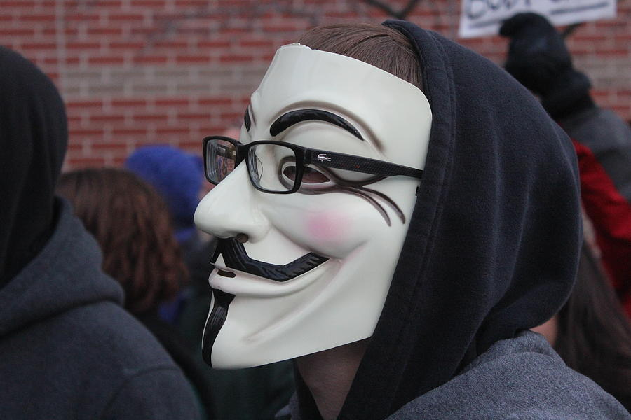 Guy Fawkes Mask Photograph - Guy Fawkes With Glasses by Callen Harty