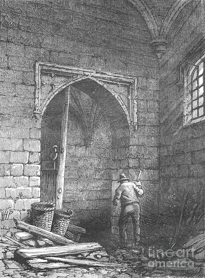 Guy Fawkess Cellar Drawing by Print Collector