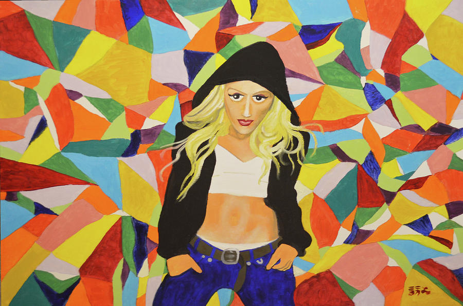 Gwen Stefani Painting - Gwen by Ebenlo - Painter Of Song