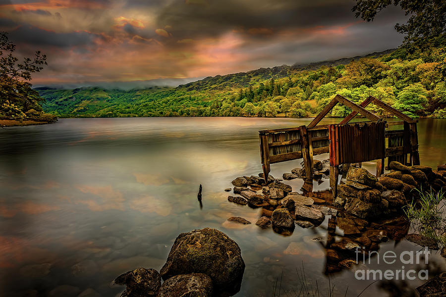 Gwynant Lake Old Boat House by Adrian Evans