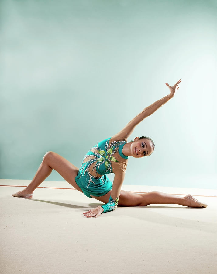 Gymnast, Smiling, Bending Backwards Photograph by Emma Innocenti