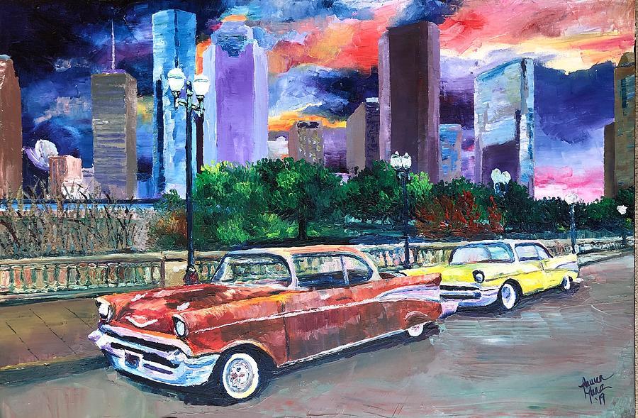 Houston Painting - H-Town Rollin by Lauren Luna