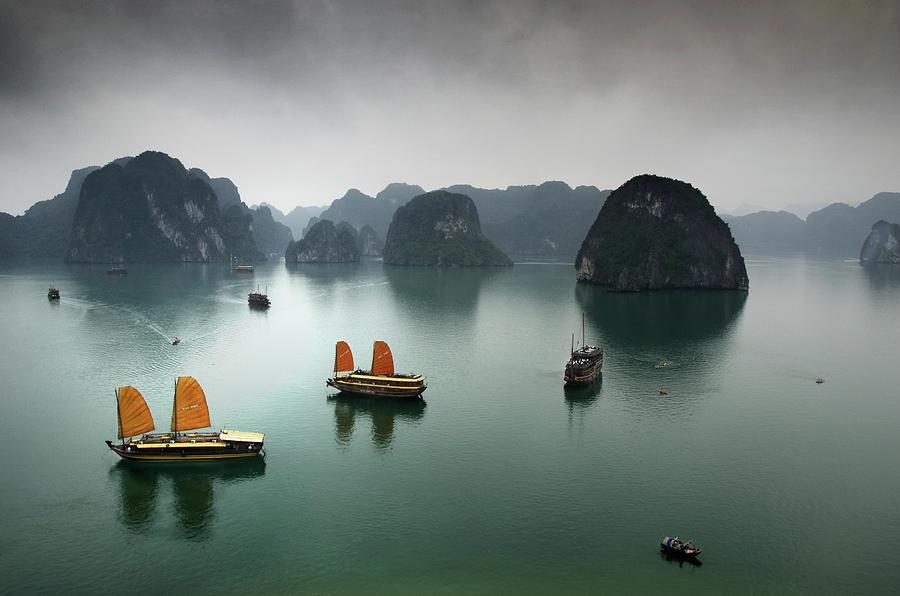 Ha Long Bay Photograph by Copyright Mark Keelan