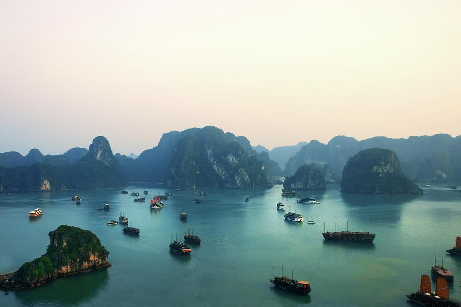 Scenic Photograph - Ha Long Bay by Samantha T. Photography