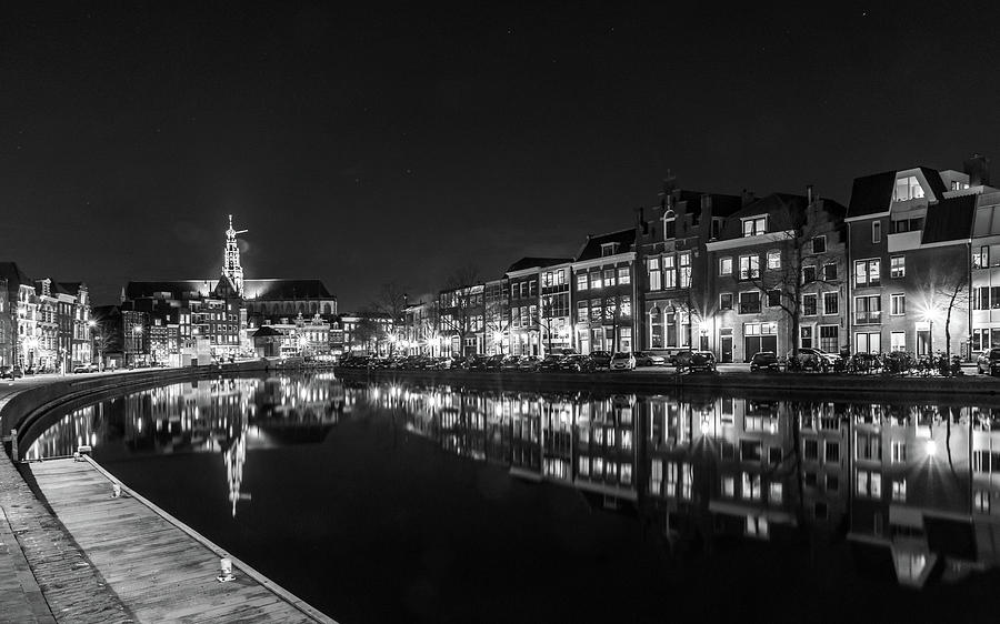 Holland Photograph - Haarlem at Night by Framing Places