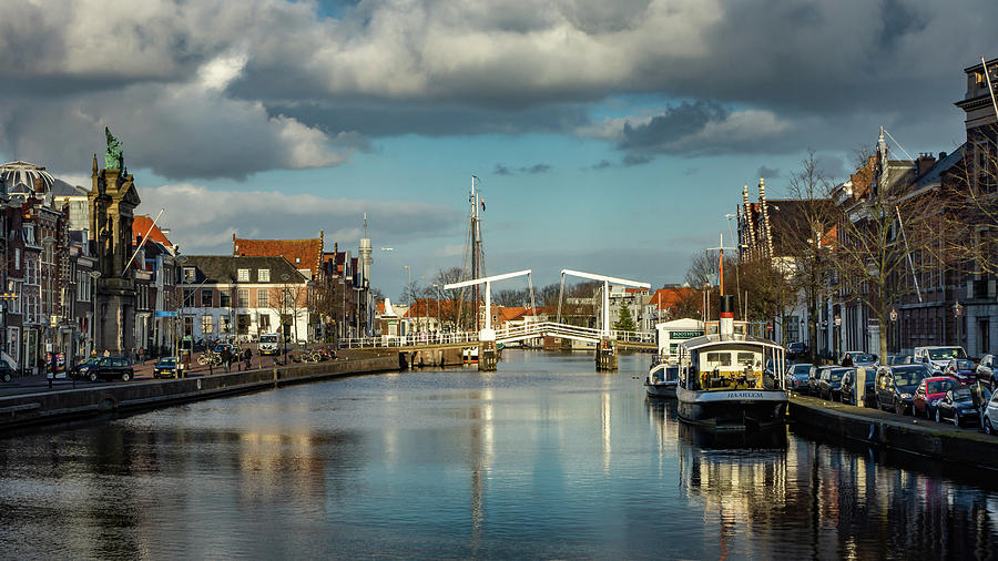 Holland Photograph - Haarlem Canal by Framing Places