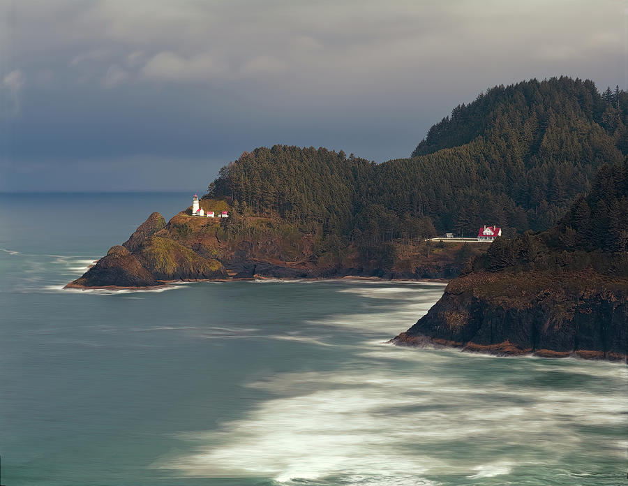 Haceta Head Lighthouse Photograph