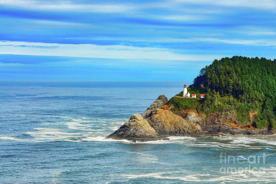 Haceta Head Lighthouse by Mel Steinhauer