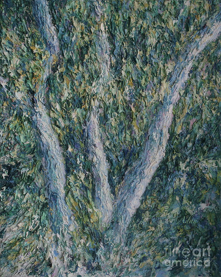 Impressionism Painting - Hackberries by Felipe Adan Lerma
