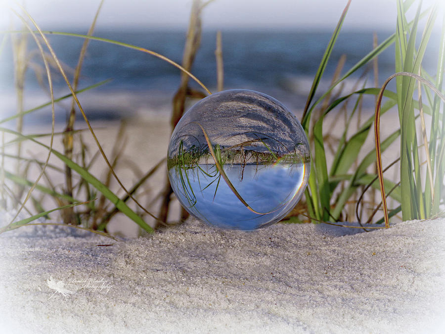 Had a Ball at the Beach V - Glass in the Grass by Denise Winship