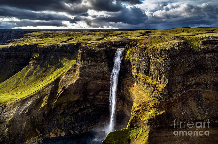 Haifoss Waterfall by Miles Whittingham
