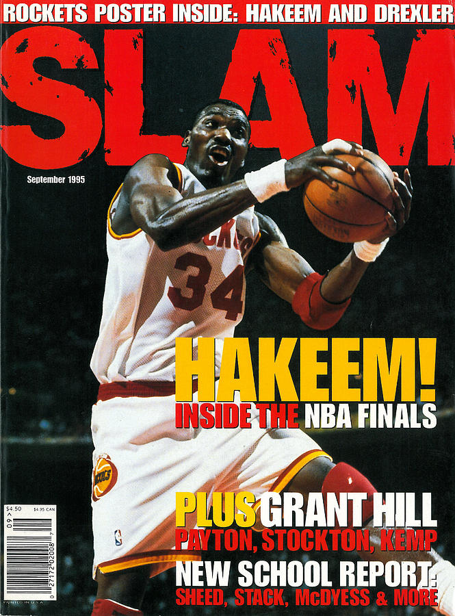 Hakeem! Inside the NBA Finals SLAM Cover Photograph by Getty Images