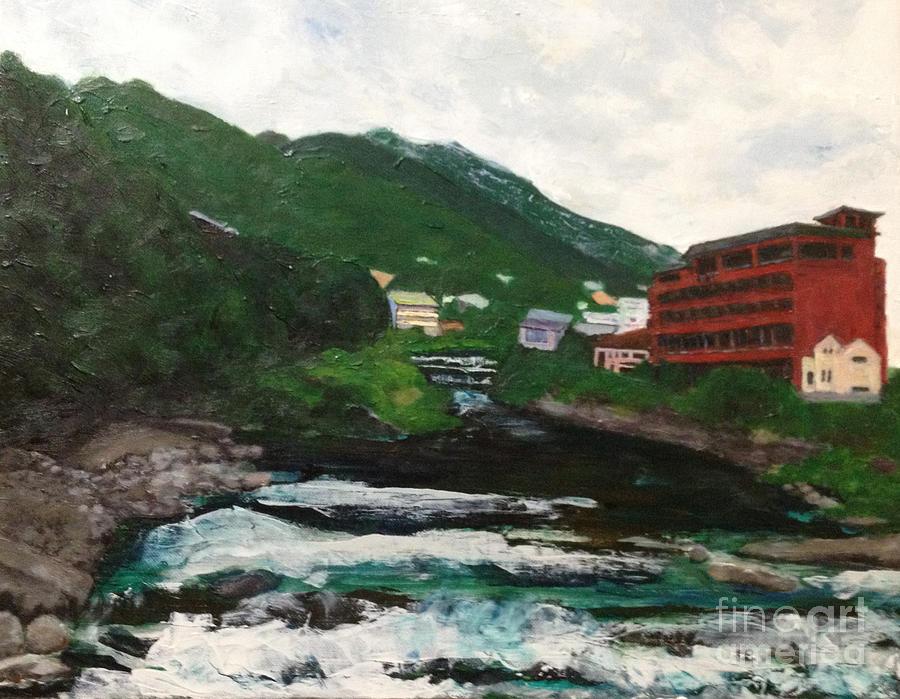 Landscape Painting - Hakone In natural splendor by Sawako Utsumi