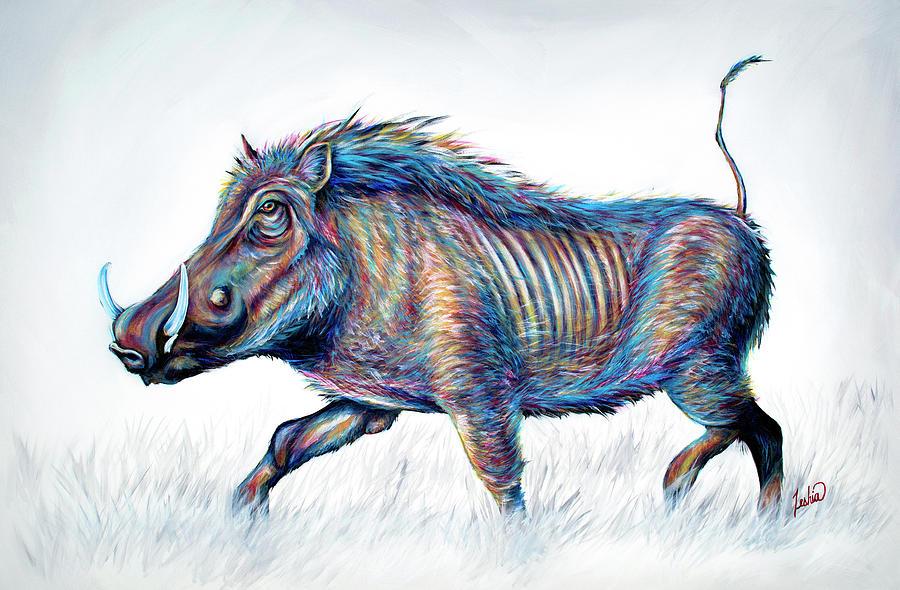 Hakuna Matata - Warthog by Teshia Art